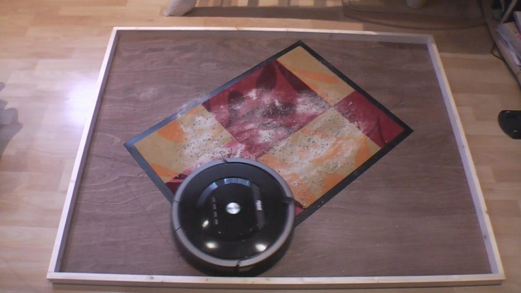 Roomba 880 beim Schmutztest